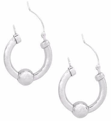 Sterling Silver Cape Cod Hoop Earrings 20x3mm Hoops