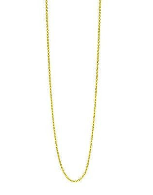 "14K Solid Yellow Gold Oval Cable Link Chain Necklace 1.2mm 16"",18"""