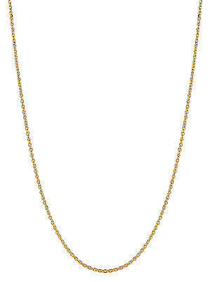 "14K Solid Yellow Gold Cable Link Chain Necklace 1.4mm 16"",18"", 20"", 24"""