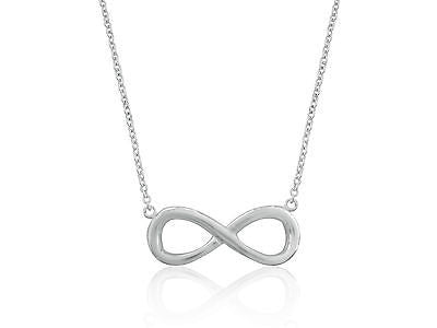 "Sterling Silver Infinity Necklace Chain 16""-18"" Adjustable"