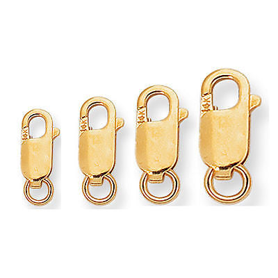 14K Solid Yellow Gold Lobster Catch Lock Replacement