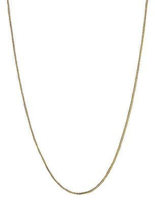 14K Solid Yellow Gold Franco Chain Necklace
