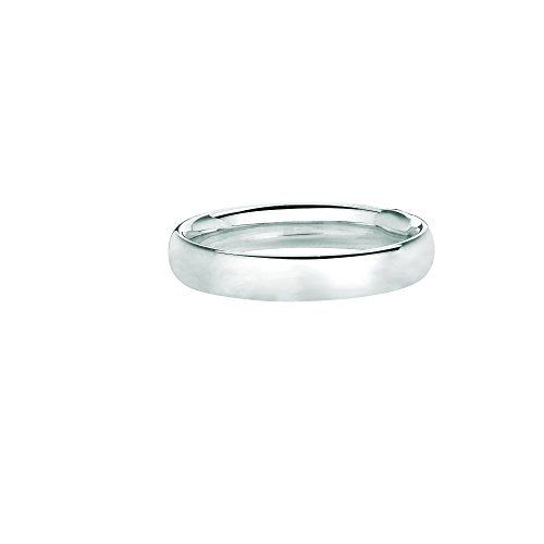 Ritastephens Solid Sterling Silver or Gold tone Comfort  Fit Wedding Band 4mm Ring Size 5-10