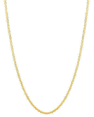 "14k Solid Yellow Gold Mariner Link Chain  Necklace 1.7mm 16"", 18"", 20"", 24"""