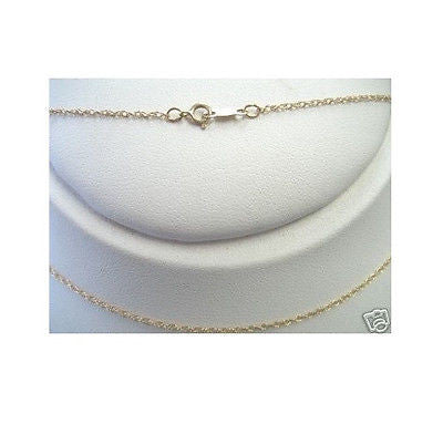 "14K Solid Yellow Gold Lite Rope Chain Necklace 16"",18"",20"""
