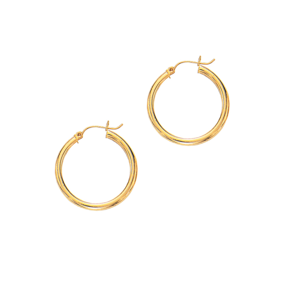 14K Real Yellow Gold Hoops Hoop Earrings Tubular Sale!!