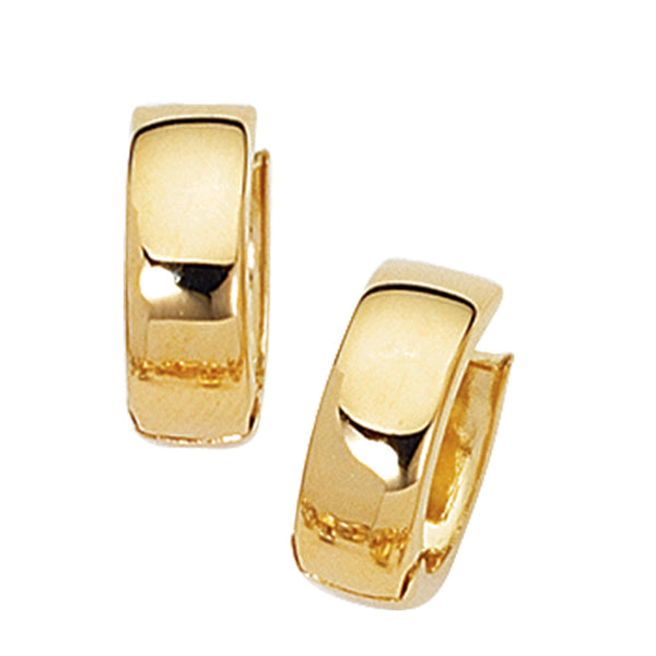14K Solid Gold Huggy Huggies Earrings Hoops