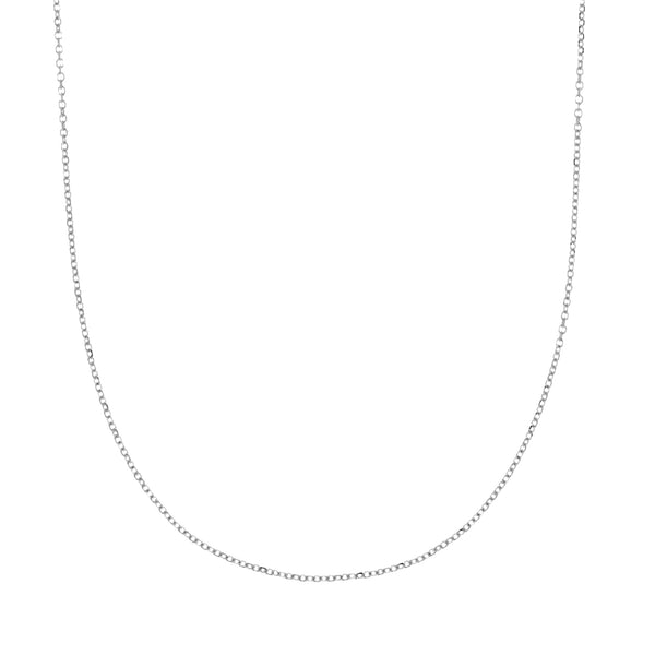Sterling Silver Cable Chain Necklace 1.1mm Width (17 Inches)