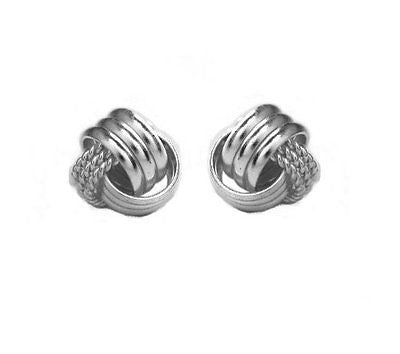.925 Sterling Silver Love Knot Earrings Loveknot Earrings 9.5mm Small