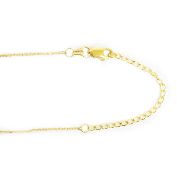 14k Yellow gold extender for chains and necklaces