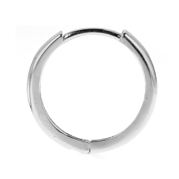 14K Real White Gold Baby Huggy Huggies Hoops  Earrings