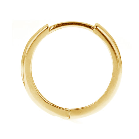 14K Real Yellow Gold Huggie Huggy Hoops Men's Single Earring Unisex