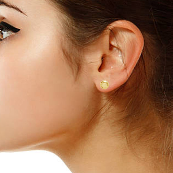 10k Yellow or White Gold Ball Stud Post Earrings (3mm, 5mm, 8mm)