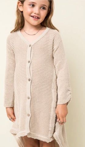 Girls Sweater Dress or Cardigan