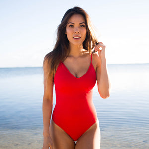 The Lexington One Piece Swimsuit - Salsa