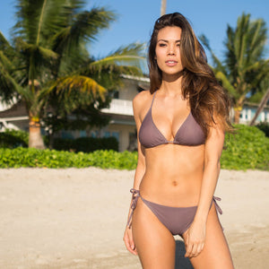The Waverly Bikini Top - Smoke