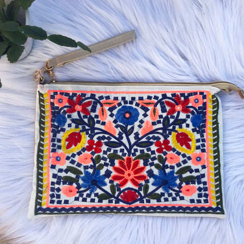 Camilla Embroidered Clutch
