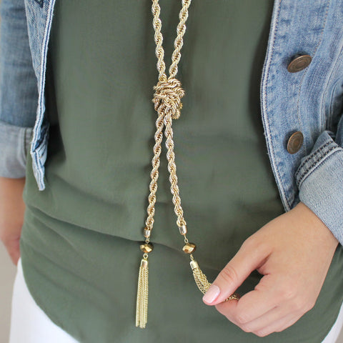 Isla Knot & Tassel Necklace