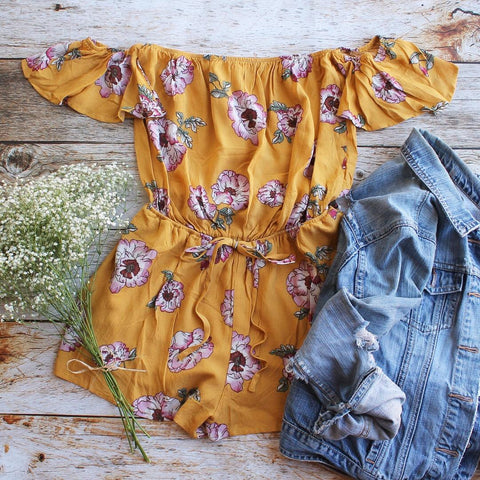 Aubree Floral Romper