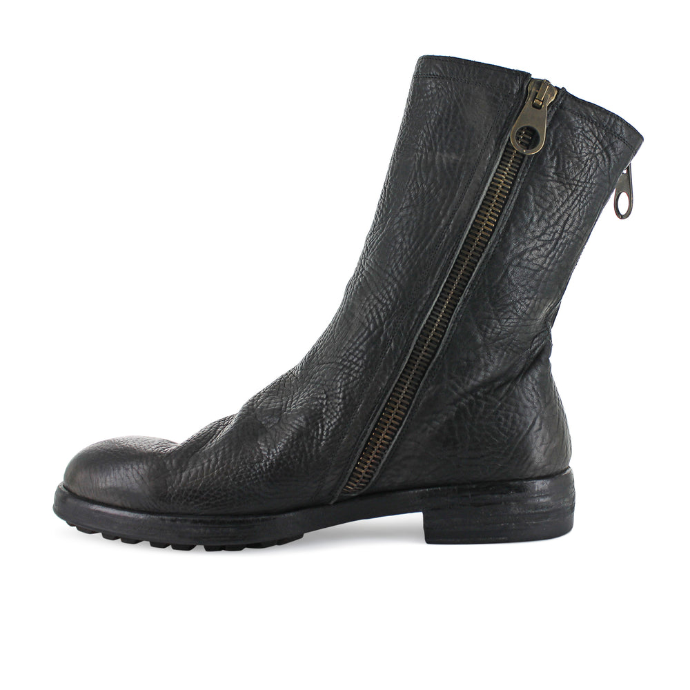 Maurizi - Grained Leather High Boot