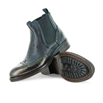 6541 - Antique Greenish Blue Chelsea Boot
