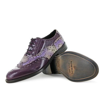 15513 - Purple Patent Brogue