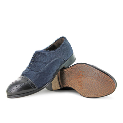 1345 - Blue Brogue Shoe