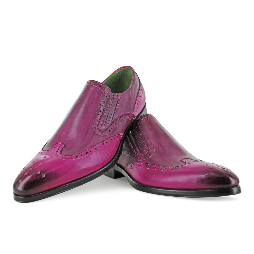 1350 - Fuchsia Slip On Brogue