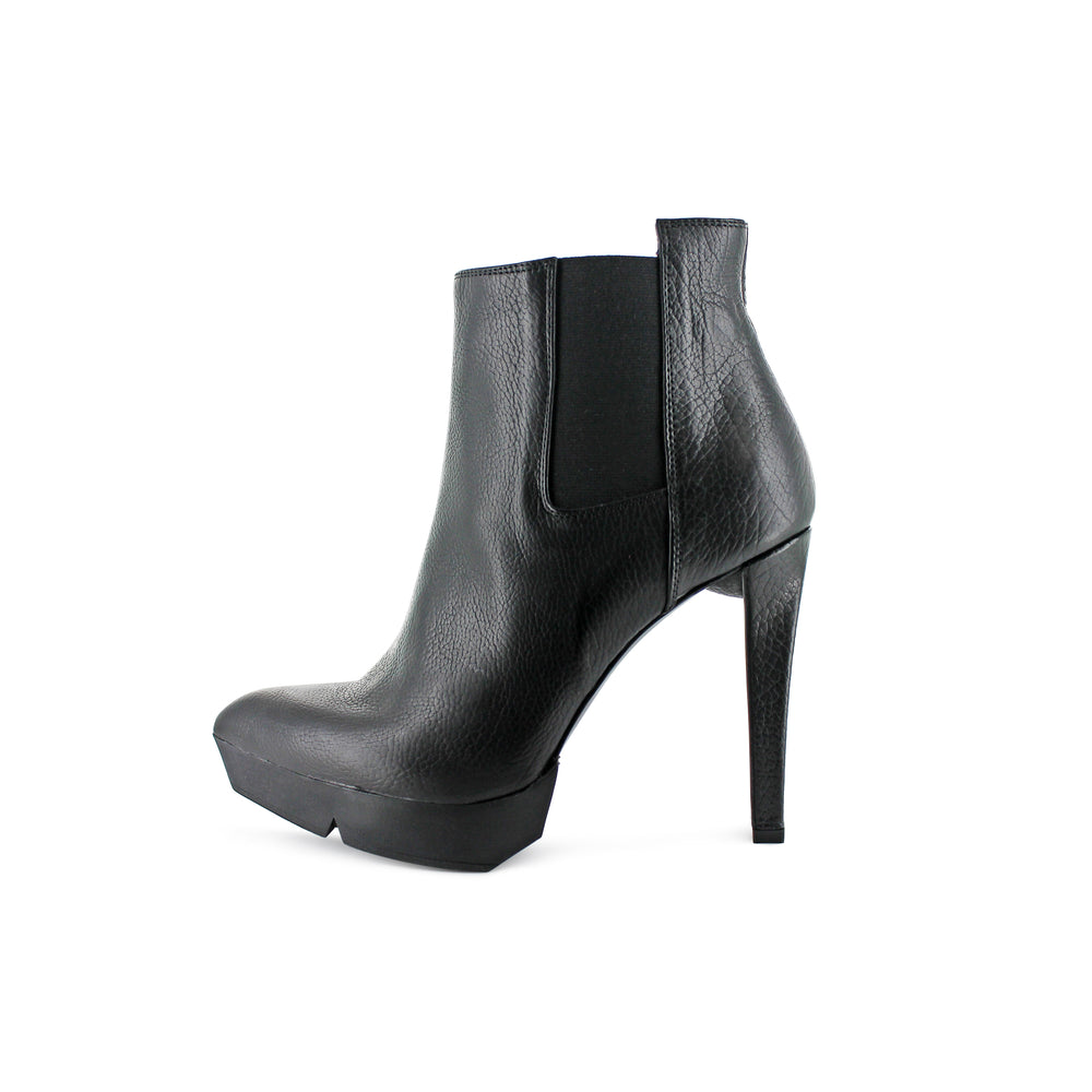 Cin21 - Black Leather Platform Boot