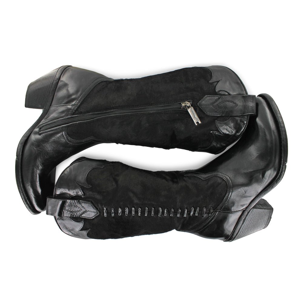 BU10A - Black Pony Hide Cowboy