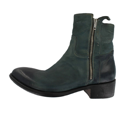 4103 - Aqua Blue Double Side Zip Boot
