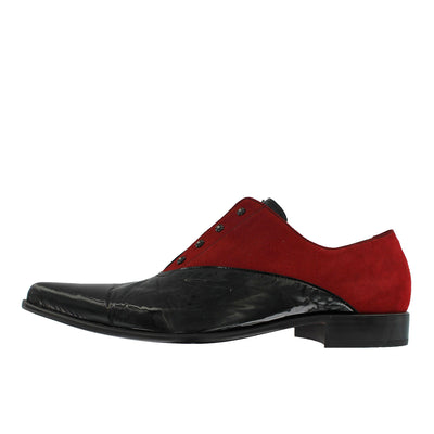 Got 8 - Black Pointed Red Suede