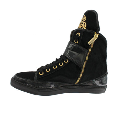 P320 - Black Cavallino Fur Hi-Top Trainer