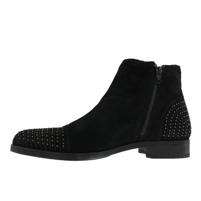 S5806 - Black Suede With Studs