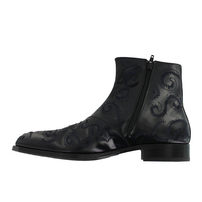 S5904 -  Black Embroided Boot