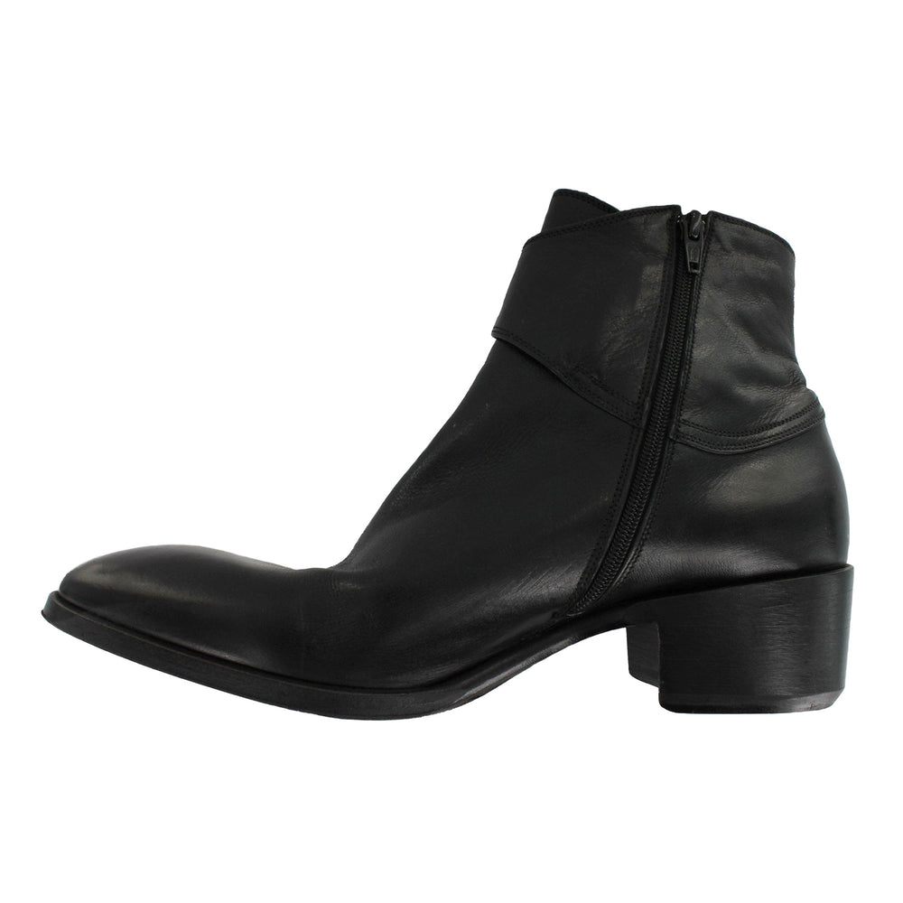 Tabias - Black Strap Ankle Boot