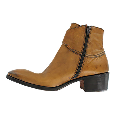 Tabias - Tan Strap Ankle Boot