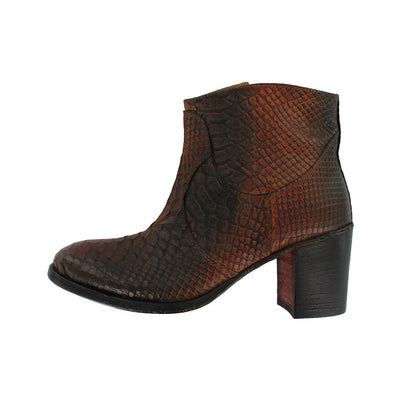 KesiB - Brown Snake Skin Print Boot