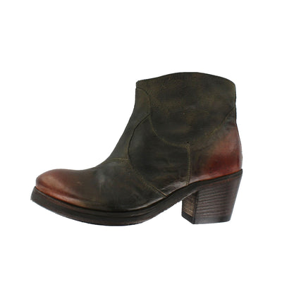Tania B - Military Green with Rusty Brown Toe Cap