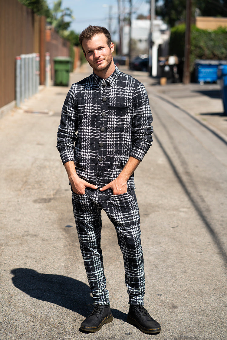 Chess Houndstooth Black - Pants