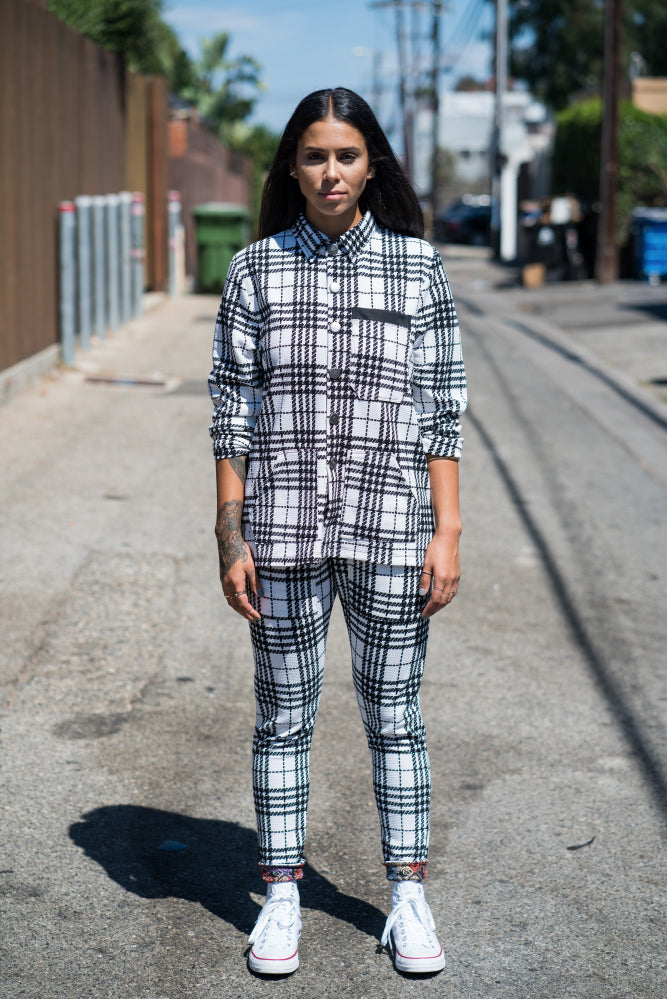 Checkers Houndstooth White - Pants