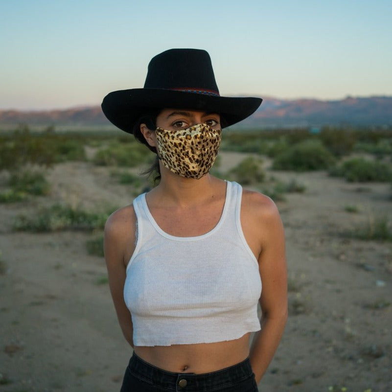 Sustainable Velvet Leopard Anmial Face Mask locally made