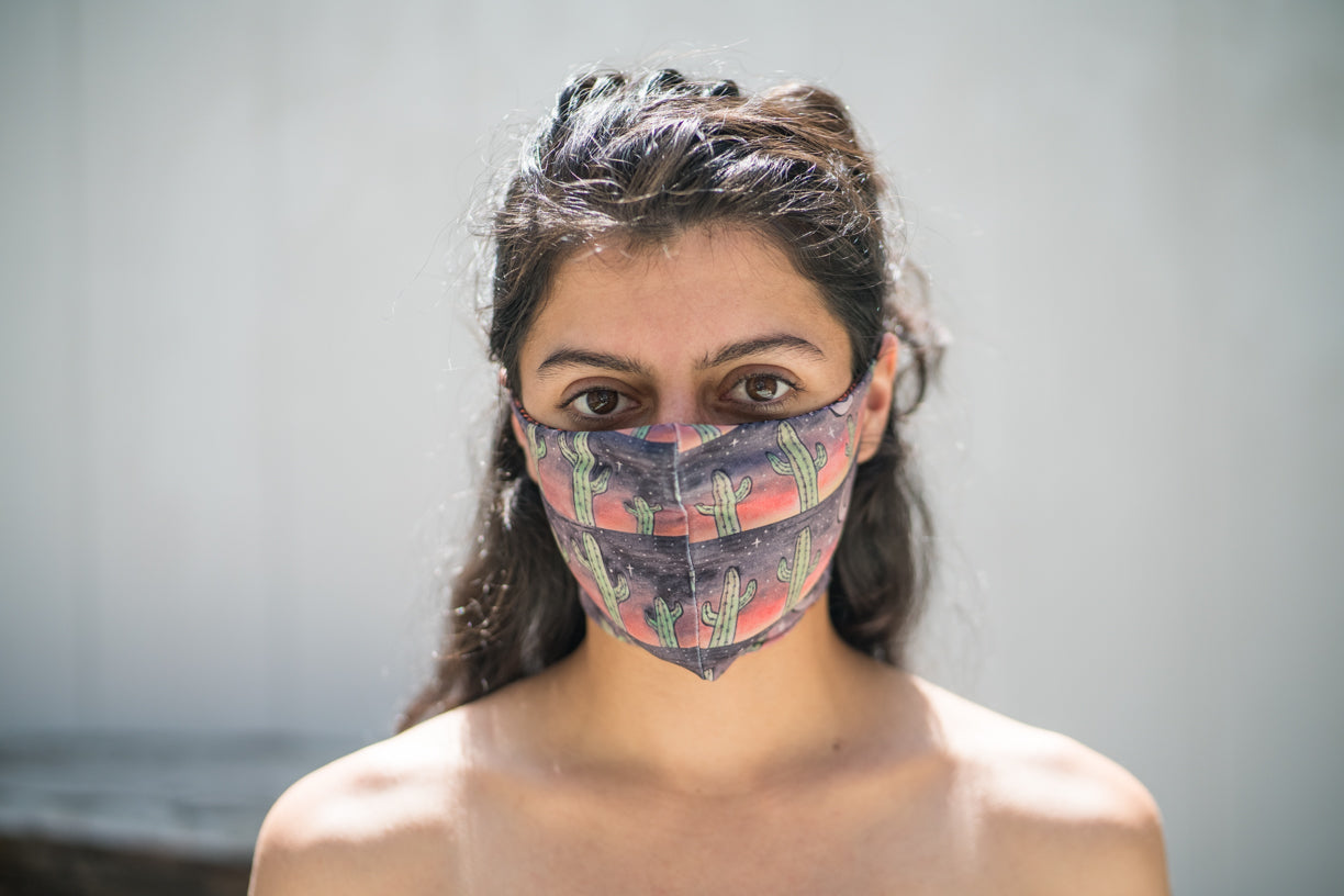 Joshua Tree Cactus Face Mask Sustainable Fashion Clothing And Face Masks