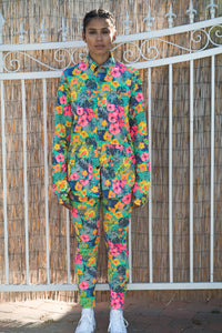 Stretchy fashion comfortable sustainable aqua mahalo floral life adventure suit jacket