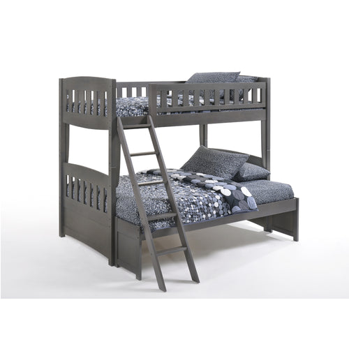Cinnamon Twin Over Double Grey Bunk Bed