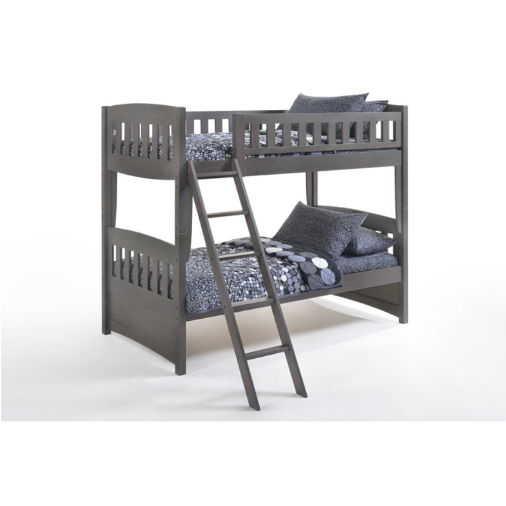 Cinnamon Twin Over Twin Grey Bunk Bed