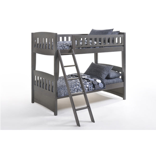 Cinnamon Twin Over Double Bunk Bed