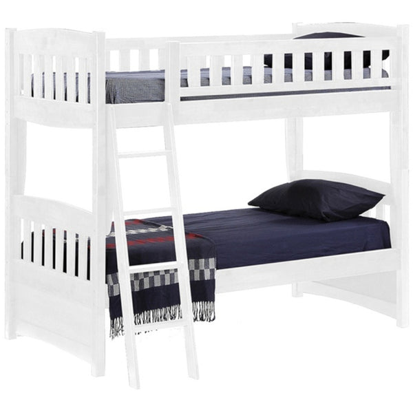 Cinnamon Twin Over Twin White Bunk Bed