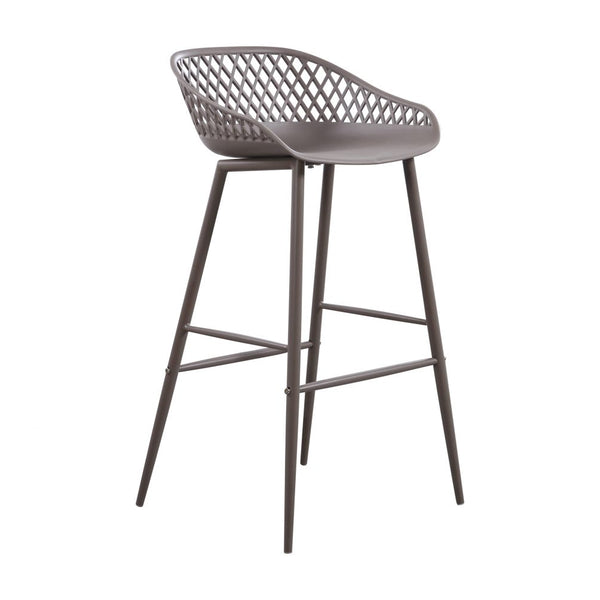 Piazza Grey Stool