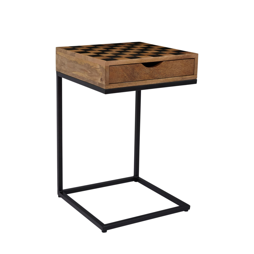 Global Checkerboard End Table